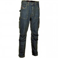 MEN'S WORK WORKING TROUSERS PANTS JEANS DENIM COTTON COFRA BARCELONA