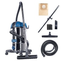 230V WET AND DRY VACUUM CLEANER STAINLESS STEEL 30L SCHEPPACH NTS30 PREMIUM